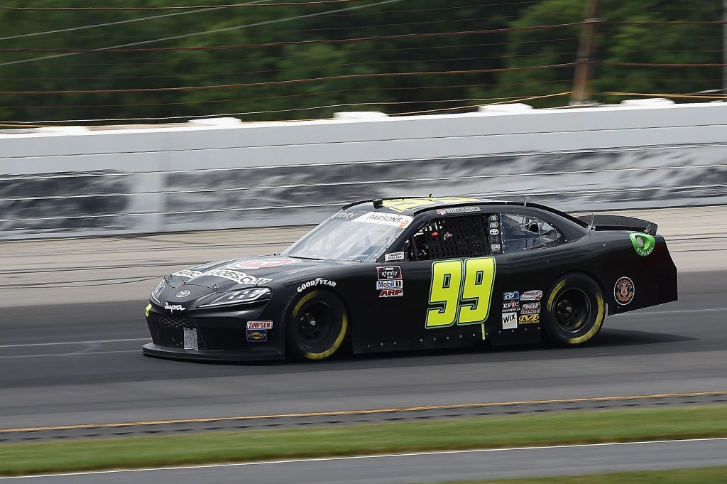LONG POND, PENNSYLVANIA - JUNE 28: Stefan Parsons, driver of the #99 RacingJobs.com Toyota, drives during the NASCAR Xfinity Series Pocono Green 225 Recycled by J.P. Mascaro & Sons at Pocono Raceway on June 28, 2020 in Long Pond, Pennsylvania. (Photo by Jared C. Tilton/Getty Images) | Getty Images
