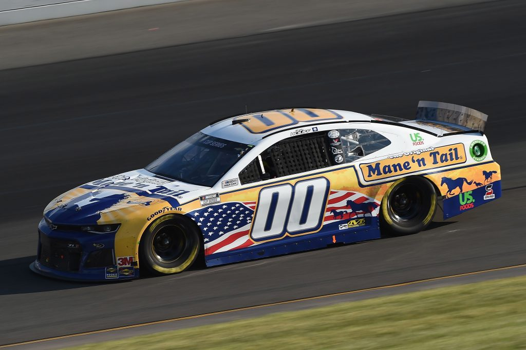 LONG POND, PENNSYLVANIA - JUNE 28: Quin Houff, driver of the #00 Mane 'n Tail Chevrolet, during the NASCAR Cup Series Pocono 350 at Pocono Raceway on June 28, 2020 in Long Pond, Pennsylvania. (Photo by Jared C. Tilton/Getty Images) | Getty Images