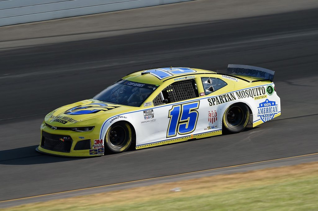 LONG POND, PENNSYLVANIA - JUNE 28: Brennan Poole, driver of the #15 Remember Everyone Deployed Chevrolet, during the NASCAR Cup Series Pocono 350 at Pocono Raceway on June 28, 2020 in Long Pond, Pennsylvania. (Photo by Jared C. Tilton/Getty Images)   Getty Images