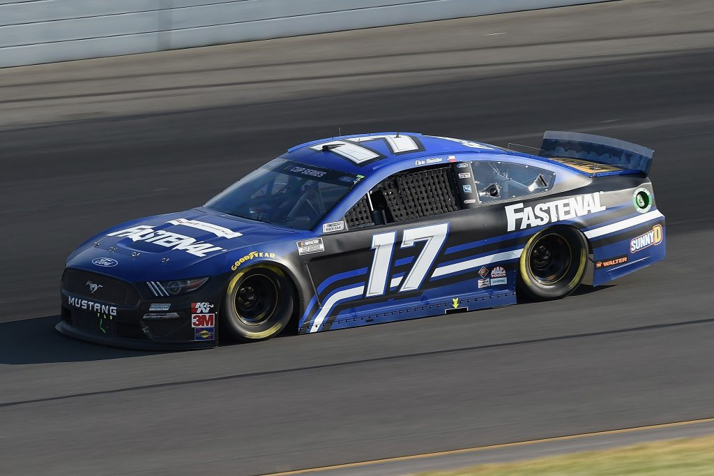 LONG POND, PENNSYLVANIA - JUNE 28: Chris Buescher, driver of the #17 Fastenal Ford, during the NASCAR Cup Series Pocono 350 at Pocono Raceway on June 28, 2020 in Long Pond, Pennsylvania. (Photo by Jared C. Tilton/Getty Images) | Getty Images