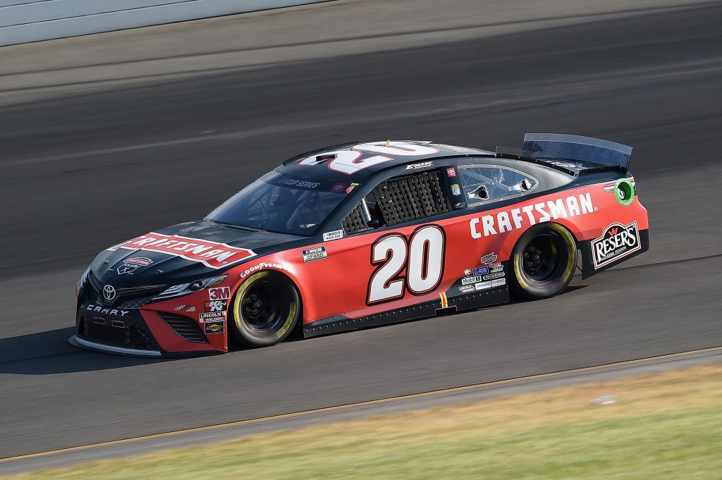 LONG POND, PENNSYLVANIA - JUNE 28: Erik Jones, driver of the #20 Craftsman Toyota, during the NASCAR Cup Series Pocono 350 at Pocono Raceway on June 28, 2020 in Long Pond, Pennsylvania. (Photo by Jared C. Tilton/Getty Images) | Getty Images