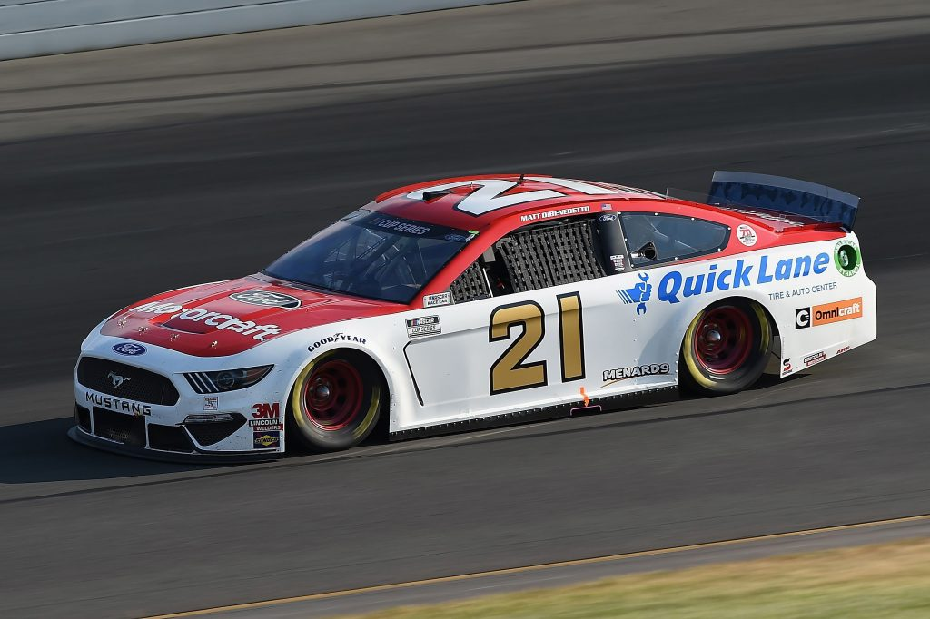 LONG POND, PENNSYLVANIA - JUNE 28: Matt DiBenedetto, driver of the #21 Motorcraft/Quick Lane Ford, during the NASCAR Cup Series Pocono 350 at Pocono Raceway on June 28, 2020 in Long Pond, Pennsylvania. (Photo by Jared C. Tilton/Getty Images) | Getty Images