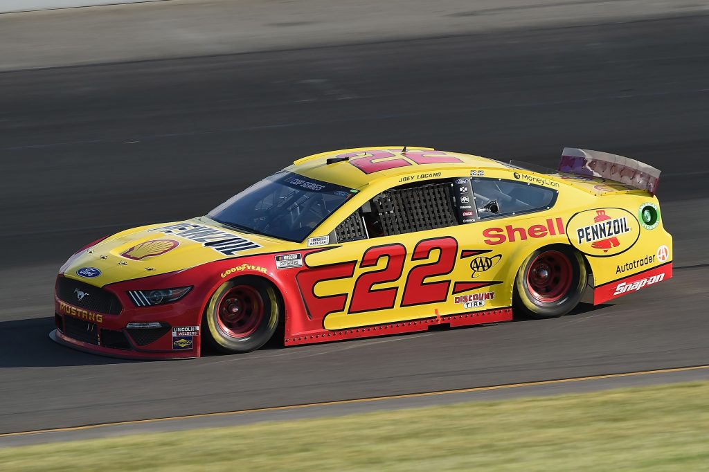 LONG POND, PENNSYLVANIA - JUNE 28: Joey Logano, driver of the #22 Shell Pennzoil Ford, during the NASCAR Cup Series Pocono 350 at Pocono Raceway on June 28, 2020 in Long Pond, Pennsylvania. (Photo by Jared C. Tilton/Getty Images) | Getty Images