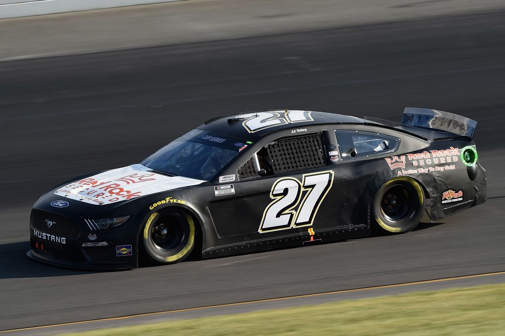 LONG POND, PENNSYLVANIA - JUNE 28: JJ Yeley, driver of the #27 Rick Ware Racing Ford, during the NASCAR Cup Series Pocono 350 at Pocono Raceway on June 28, 2020 in Long Pond, Pennsylvania. (Photo by Jared C. Tilton/Getty Images) | Getty Images