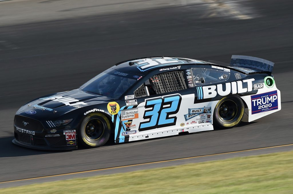 LONG POND, PENNSYLVANIA - JUNE 28: Corey LaJoie, driver of the #32 Built Bar Ford, during the NASCAR Cup Series Pocono 350 at Pocono Raceway on June 28, 2020 in Long Pond, Pennsylvania. (Photo by Jared C. Tilton/Getty Images) | Getty Images