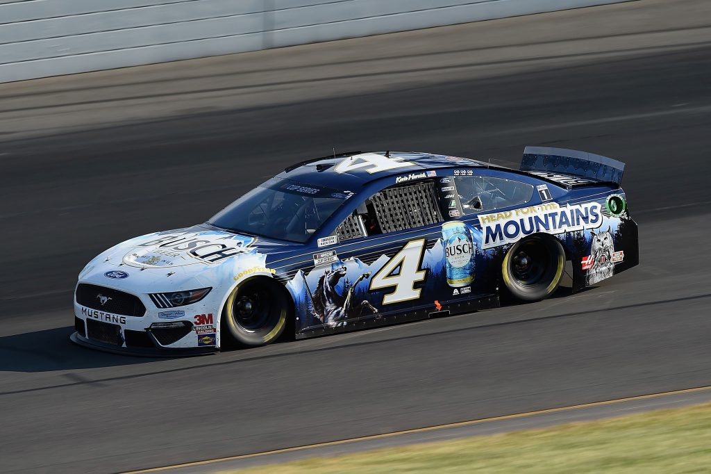LONG POND, PENNSYLVANIA - JUNE 28: Kevin Harvick, driver of the #4 Busch Head for the Mountains Ford, during the NASCAR Cup Series Pocono 350 at Pocono Raceway on June 28, 2020 in Long Pond, Pennsylvania. (Photo by Jared C. Tilton/Getty Images) | Getty Images