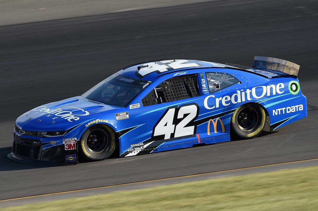 LONG POND, PENNSYLVANIA - JUNE 28: Matt Kenseth, driver of the #42 Credit One Bank Chevrolet, during the NASCAR Cup Series Pocono 350 at Pocono Raceway on June 28, 2020 in Long Pond, Pennsylvania. (Photo by Jared C. Tilton/Getty Images) | Getty Images