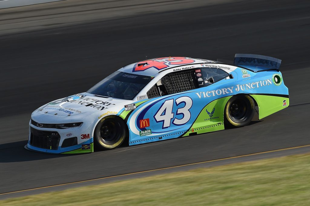 LONG POND, PENNSYLVANIA - JUNE 28: Bubba Wallace, driver of the #43 Victory Junction Chevrolet, during the NASCAR Cup Series Pocono 350 at Pocono Raceway on June 28, 2020 in Long Pond, Pennsylvania. (Photo by Jared C. Tilton/Getty Images) | Getty Images