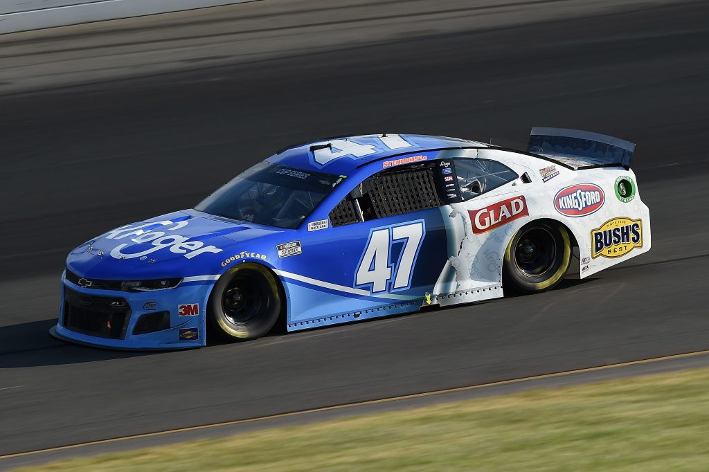 LONG POND, PENNSYLVANIA - JUNE 28: Ricky Stenhouse Jr., driver of the #47 Kroger Chevrolet, during the NASCAR Cup Series Pocono 350 at Pocono Raceway on June 28, 2020 in Long Pond, Pennsylvania. (Photo by Jared C. Tilton/Getty Images) | Getty Images