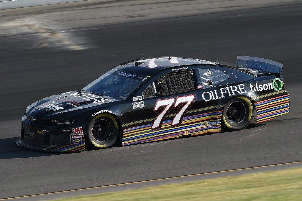 LONG POND, PENNSYLVANIA - JUNE 28: James Davison, driver of the #77 OilFire Rye Whiskey Chevrolet, during the NASCAR Cup Series Pocono 350 at Pocono Raceway on June 28, 2020 in Long Pond, Pennsylvania. (Photo by Jared C. Tilton/Getty Images) | Getty Images