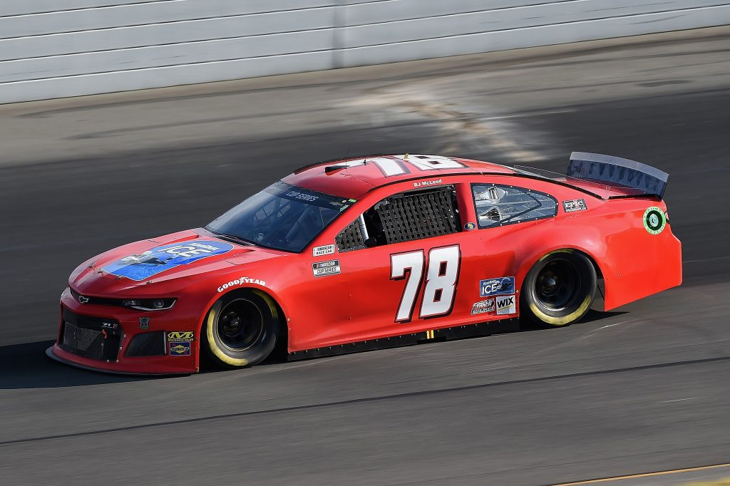 LONG POND, PENNSYLVANIA - JUNE 28: BJ McLeod, driver of the #78 Koolbox Chevrolet, during the NASCAR Cup Series Pocono 350 at Pocono Raceway on June 28, 2020 in Long Pond, Pennsylvania. (Photo by Jared C. Tilton/Getty Images) | Getty Images