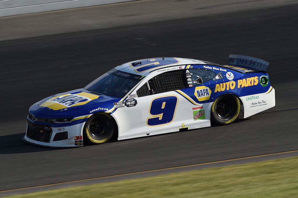 LONG POND, PENNSYLVANIA - JUNE 28: Chase Elliott, driver of the #9 NAPA Auto Parts Chevrolet, during the NASCAR Cup Series Pocono 350 at Pocono Raceway on June 28, 2020 in Long Pond, Pennsylvania. (Photo by Jared C. Tilton/Getty Images) | Getty Images