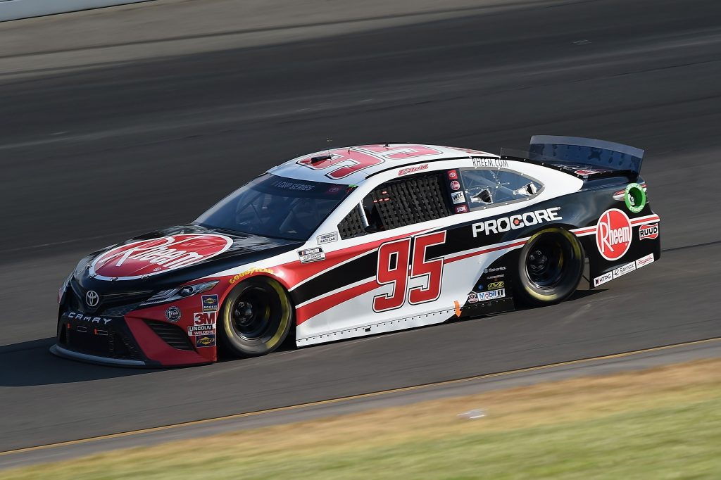 LONG POND, PENNSYLVANIA - JUNE 28: Christopher Bell, driver of the #95 Rheem Toyota, during the NASCAR Cup Series Pocono 350 at Pocono Raceway on June 28, 2020 in Long Pond, Pennsylvania. (Photo by Jared C. Tilton/Getty Images) | Getty Images