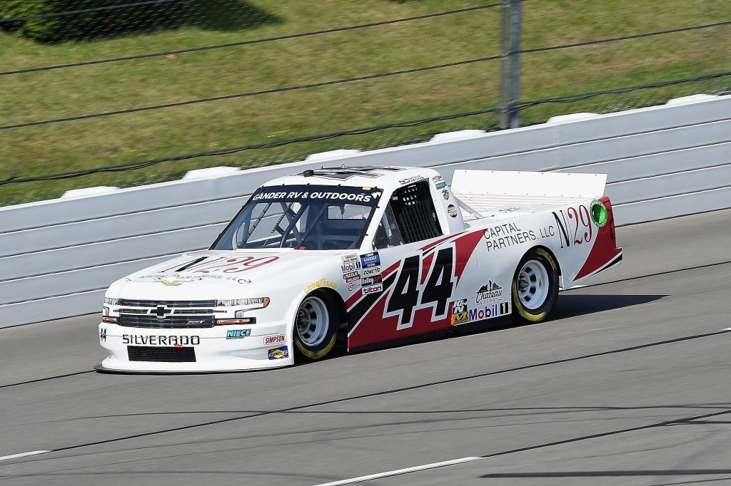 LONG POND, PENNSYLVANIA - JUNE 28: Natalie Decker, driver of the #44 N29 Capital Partners Chevrolet, drives during the NASCAR Gander RV & Outdoors Truck Series Pocono Organics 150 to benefit Farm Aid at Pocono Raceway on June 28, 2020 in Long Pond, Pennsylvania. (Photo by Jared C. Tilton/Getty Images) | Getty Images