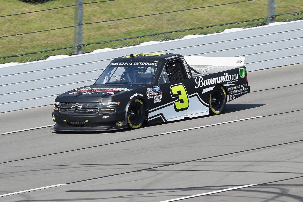 LONG POND, PENNSYLVANIA - JUNE 28: Jordan Anderson, driver of the #3 Bommarito.com/Fueld By Fans Chevrolet, drives during the NASCAR Gander RV & Outdoors Truck Series Pocono Organics 150 to benefit Farm Aid at Pocono Raceway on June 28, 2020 in Long Pond, Pennsylvania. (Photo by Jared C. Tilton/Getty Images) | Getty Images