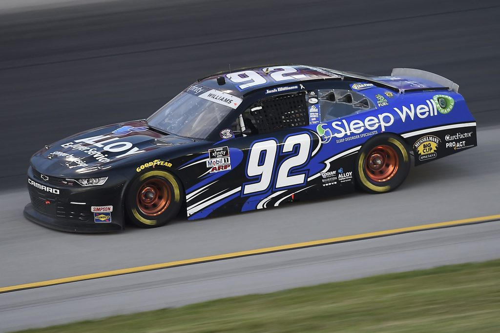 SPARTA, KENTUCKY - JULY 09: Josh Williams, driver of the #92 Alloy Employer Services Chevrolet, drives during the NASCAR Xfinity Series Shady Rays 200 at Kentucky Speedway on July 09, 2020 in Sparta, Kentucky. (Photo by Jared C. Tilton/Getty Images) | Getty Images