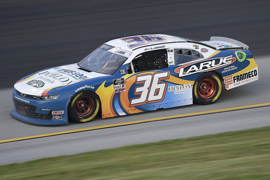 SPARTA, KENTUCKY - JULY 09: Alex Labbe, driver of the #36 Larue Snowblowers Chevrolet, drives during the NASCAR Xfinity Series Shady Rays 200 at Kentucky Speedway on July 09, 2020 in Sparta, Kentucky. (Photo by Jared C. Tilton/Getty Images) | Getty Images
