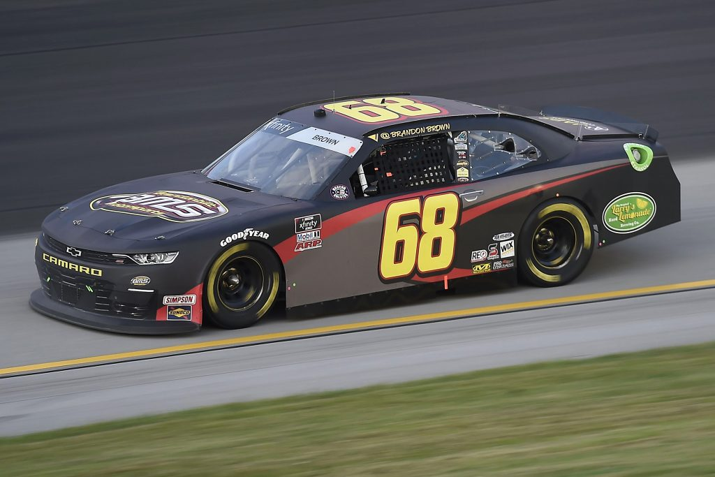 SPARTA, KENTUCKY - JULY 09: Brandon Brown, driver of the #68 Bmsraceteam.com Chevrolet, drives during the NASCAR Xfinity Series Shady Rays 200 at Kentucky Speedway on July 09, 2020 in Sparta, Kentucky. (Photo by Jared C. Tilton/Getty Images) | Getty Images