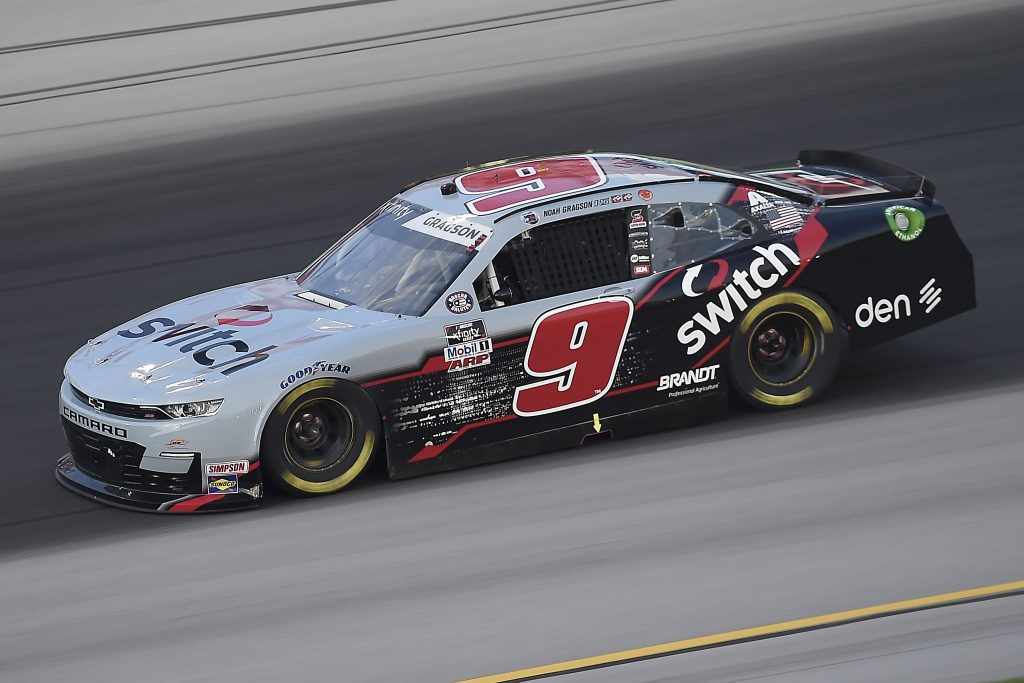 SPARTA, KENTUCKY - JULY 09: Noah Gragson, driver of the #9 Switch Chevrolet, drives during the NASCAR Xfinity Series Shady Rays 200 at Kentucky Speedway on July 09, 2020 in Sparta, Kentucky. (Photo by Jared C. Tilton/Getty Images) | Getty Images
