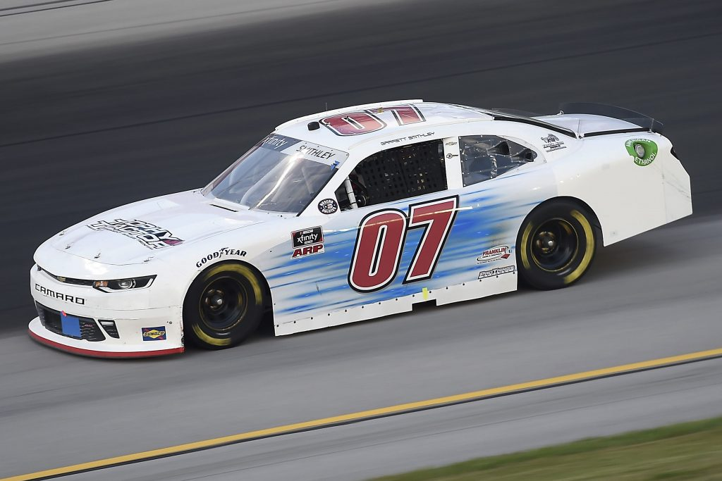 SPARTA, KENTUCKY - JULY 09: Garrett Smithley, driver of the #07 Chevrolet, drives during the NASCAR Xfinity Series Shady Rays 200 at Kentucky Speedway on July 09, 2020 in Sparta, Kentucky. (Photo by Jared C. Tilton/Getty Images) | Getty Images
