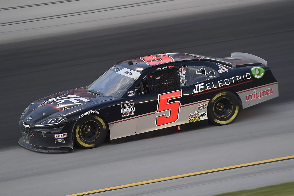 SPARTA, KENTUCKY - JULY 09: Matt Mills, driver of the #5 JF Electric Chevrolet, drives during the NASCAR Xfinity Series Shady Rays 200 at Kentucky Speedway on July 09, 2020 in Sparta, Kentucky. (Photo by Jared C. Tilton/Getty Images) | Getty Images