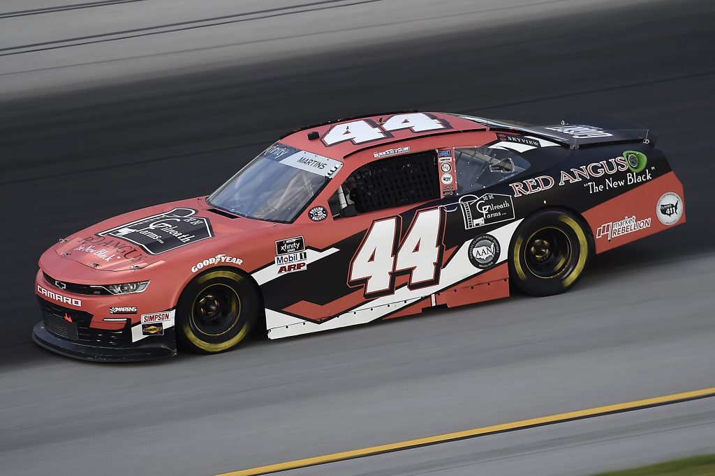 SPARTA, KENTUCKY - JULY 09: Tommy Joe Martins, driver of the #44 Gilreath Farms Red Angus Chevrolet, drives during the NASCAR Xfinity Series Shady Rays 200 at Kentucky Speedway on July 09, 2020 in Sparta, Kentucky. (Photo by Jared C. Tilton/Getty Images) | Getty Images
