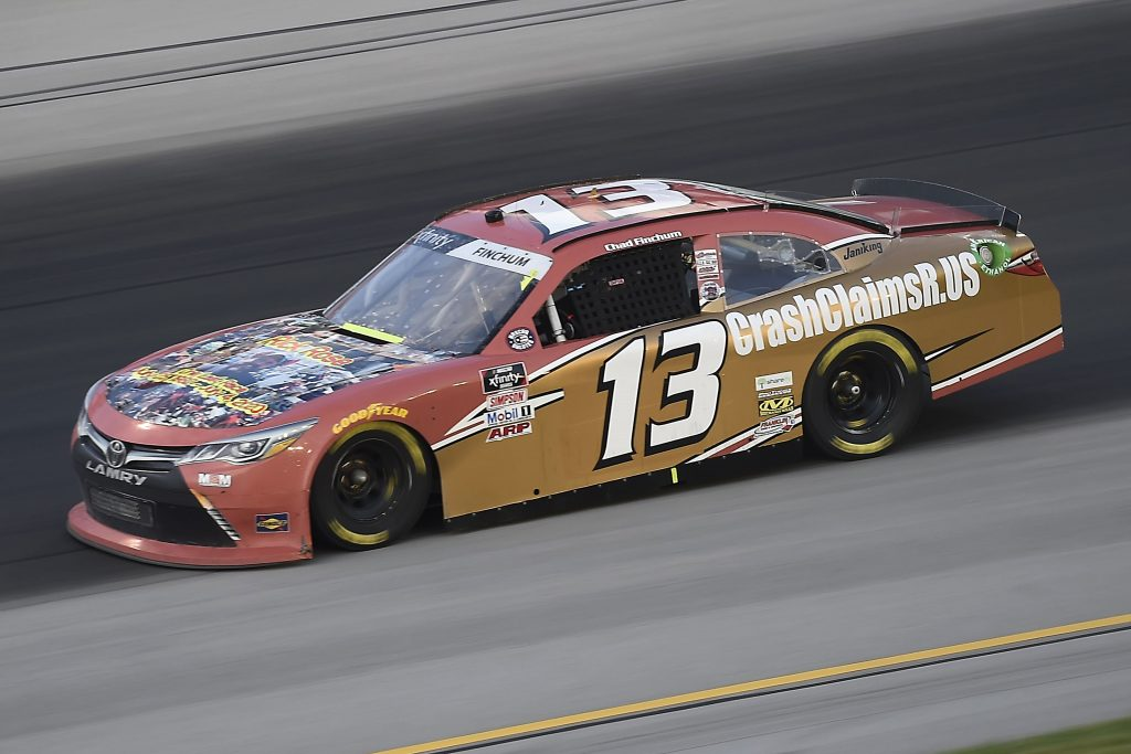 SPARTA, KENTUCKY - JULY 09: Chad Finchum, driver of the #13 CrashClainsR.US Toyota, drives during the NASCAR Xfinity Series Shady Rays 200 at Kentucky Speedway on July 09, 2020 in Sparta, Kentucky. (Photo by Jared C. Tilton/Getty Images) | Getty Images