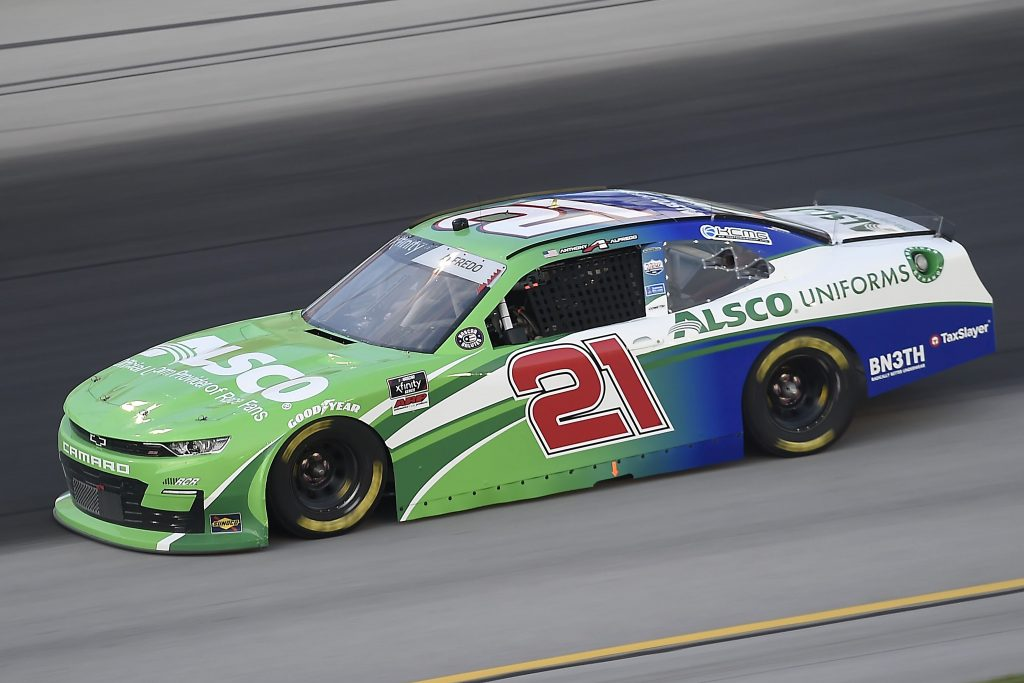SPARTA, KENTUCKY - JULY 09: Anthony Alfredo, driver of the #21 Chevrolet, drives during the NASCAR Xfinity Series Shady Rays 200 at Kentucky Speedway on July 09, 2020 in Sparta, Kentucky. (Photo by Jared C. Tilton/Getty Images) | Getty Images