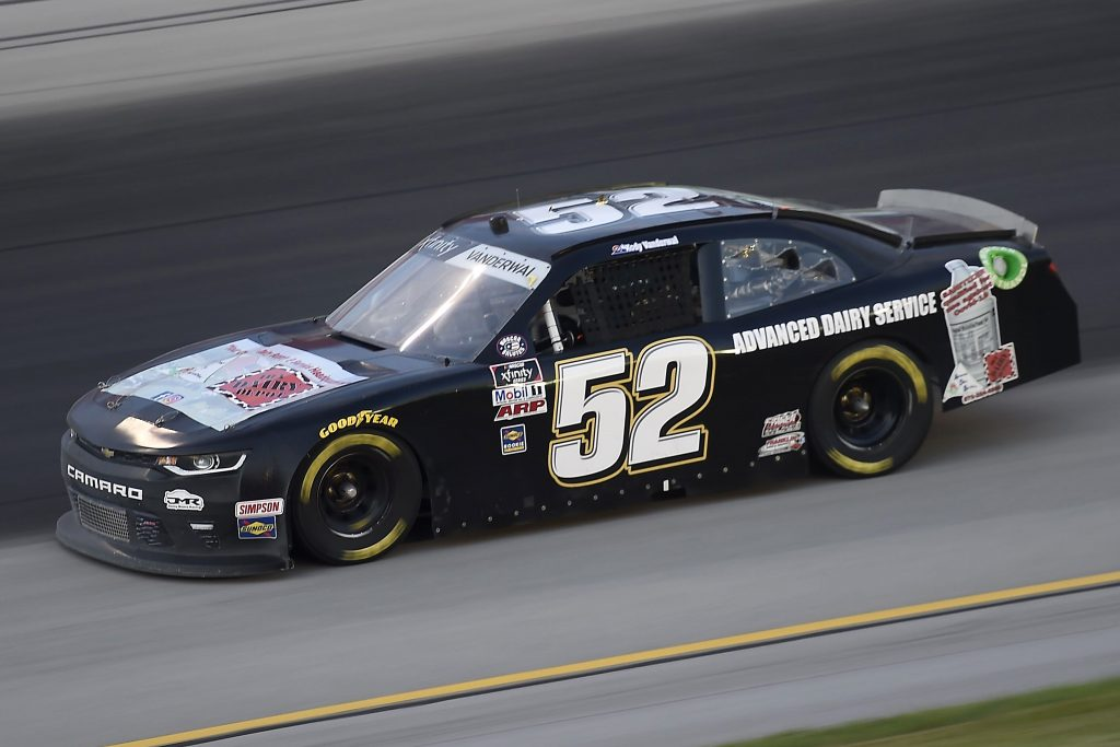 , KENTUCKY - JULY 09: Kody Vanderwal, driver of the #52 ADVANCED DAIRY SERVICE Chevrolet, drives during the NASCAR Xfinity Series Shady Rays 200 at Kentucky Speedway on July 09, 2020 in Sparta, Kentucky. (Photo by Jared C. Tilton/Getty Images) | Getty Images