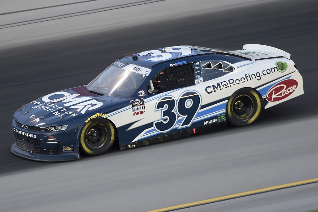 , KENTUCKY - JULY 09: Ryan Sieg, driver of the #39 CMRRoofing.com Chevrolet, drives during the NASCAR Xfinity Series Shady Rays 200 at Kentucky Speedway on July 09, 2020 in Sparta, Kentucky. (Photo by Jared C. Tilton/Getty Images) | Getty Images