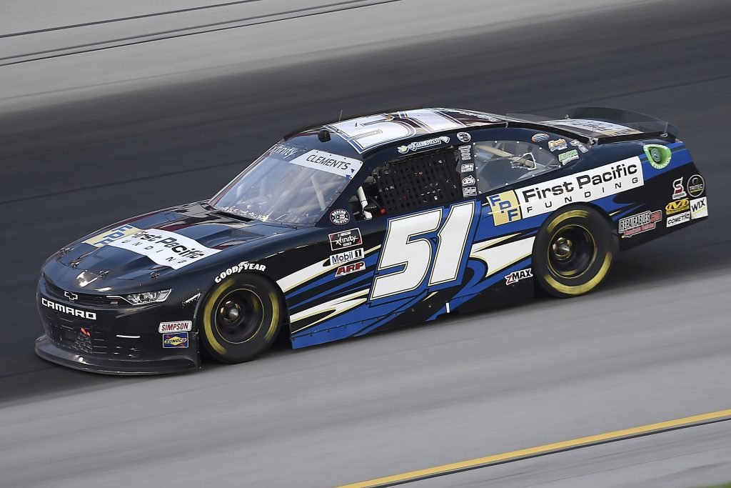 , KENTUCKY - JULY 09: Jeremy Clements, driver of the #51 First Pacific Funding Chevrolet, drives during the NASCAR Xfinity Series Shady Rays 200 at Kentucky Speedway on July 09, 2020 in Sparta, Kentucky. (Photo by Jared C. Tilton/Getty Images) | Getty Images