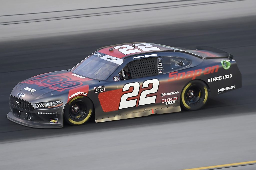 , KENTUCKY - JULY 09: Austin Cindric, driver of the #22 Snap-On Ford, drives during the NASCAR Xfinity Series Shady Rays 200 at Kentucky Speedway on July 09, 2020 in Sparta, Kentucky. (Photo by Jared C. Tilton/Getty Images) | Getty Images