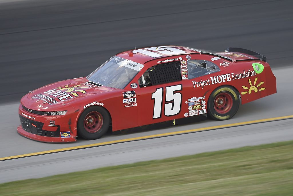 , KENTUCKY - JULY 09: Colby Howard, driver of the #15 Project Hope Foundation Chevrolet, drives during the NASCAR Xfinity Series Shady Rays 200 at Kentucky Speedway on July 09, 2020 in Sparta, Kentucky. (Photo by Jared C. Tilton/Getty Images) | Getty Images