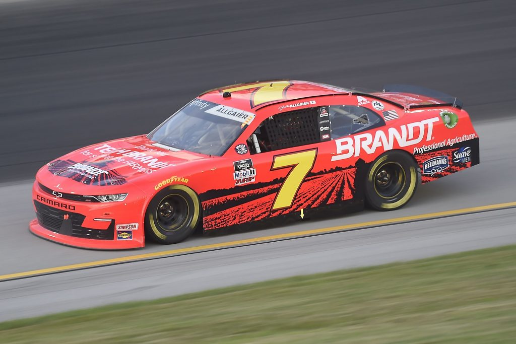 , KENTUCKY - JULY 09: Justin Allgaier, driver of the #7 Thank You Team BRANDT Chevrolet, drives during the NASCAR Xfinity Series Shady Rays 200 at Kentucky Speedway on July 09, 2020 in Sparta, Kentucky. (Photo by Jared C. Tilton/Getty Images) | Getty Images