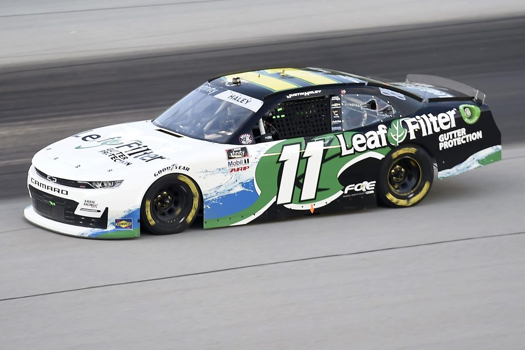 SPARTA, KENTUCKY - JULY 09: Justin Haley, driver of the #11 LeafFilter Gutter Protection Chevrolet, drives during the NASCAR Xfinity Series Shady Rays 200 at Kentucky Speedway on July 09, 2020 in Sparta, Kentucky. (Photo by Jared C. Tilton/Getty Images) | Getty Images