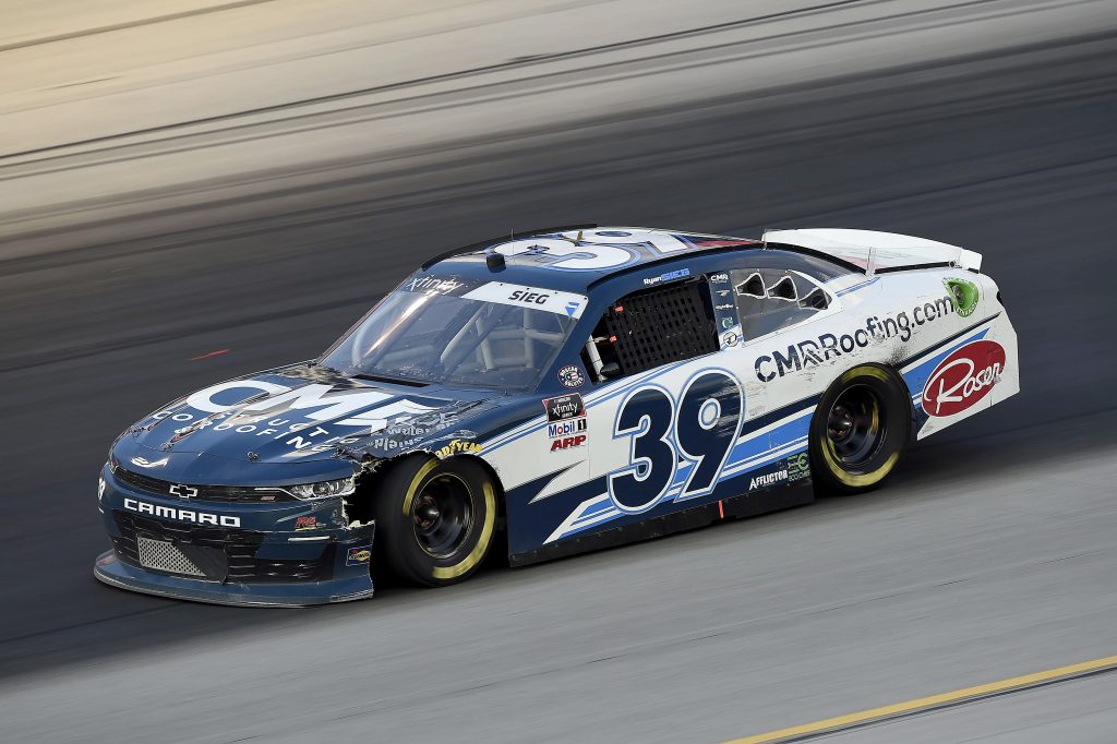 SPARTA, KENTUCKY - JULY 10: Ryan Sieg, driver of the #39 CMRRoofing.com Chevrolet, driver during the NASCAR Xfinity Series Alsco 300 at Kentucky Speedway on July 10, 2020 in Sparta, Kentucky. (Photo by Jared C. Tilton/Getty Images) | Getty Images