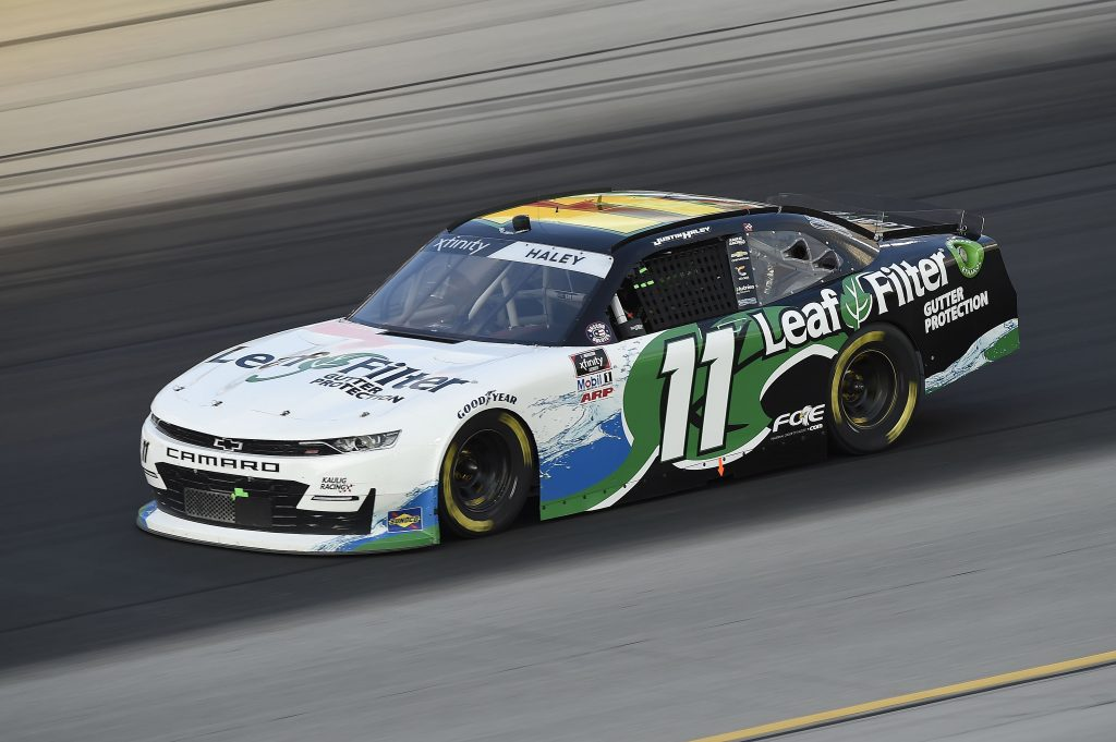 SPARTA, KENTUCKY - JULY 10: Justin Haley, driver of the #11 LeafFilter Gutter Protection Chevrolet, drives during the NASCAR Xfinity Series Alsco 300 at Kentucky Speedway on July 10, 2020 in Sparta, Kentucky. (Photo by Jared C. Tilton/Getty Images) | Getty Images