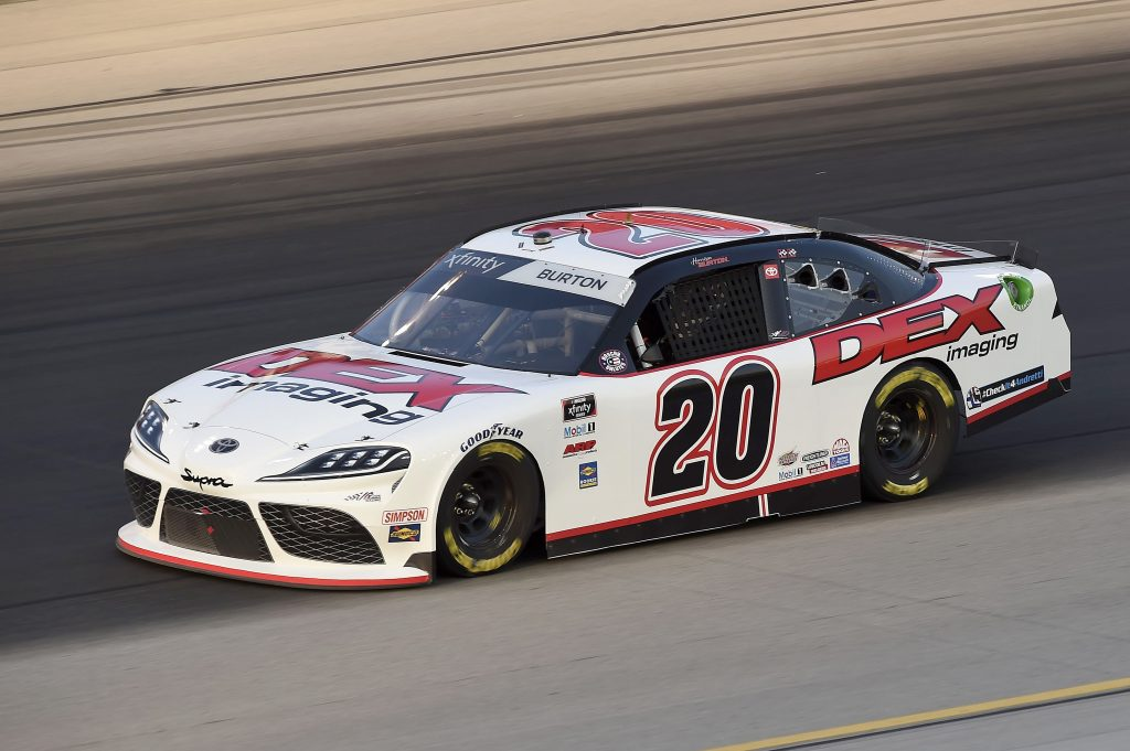 SPARTA, KENTUCKY - JULY 10: Harrison Burton, driver of the #20 DEX Imaging Toyota, drives during the NASCAR Xfinity Series Alsco 300 at Kentucky Speedway on July 10, 2020 in Sparta, Kentucky. (Photo by Jared C. Tilton/Getty Images) | Getty Images