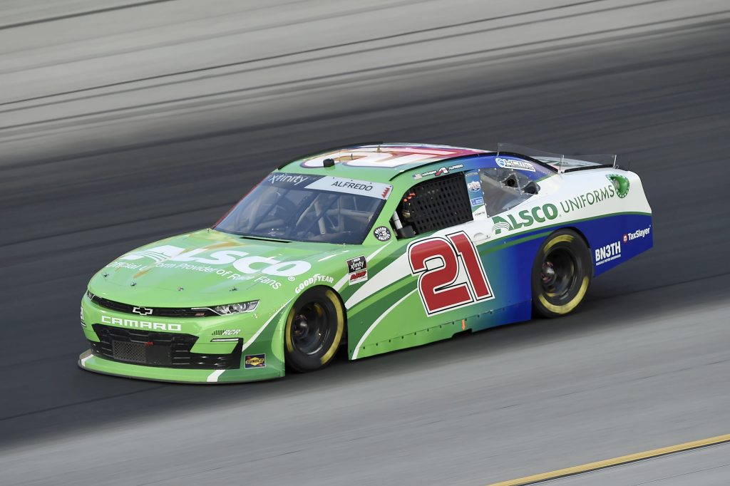 SPARTA, KENTUCKY - JULY 10: Anthony Alfredo, driver of the #21 Chevrolet, drives during the NASCAR Xfinity Series Alsco 300 at Kentucky Speedway on July 10, 2020 in Sparta, Kentucky. (Photo by Jared C. Tilton/Getty Images)   Getty Images