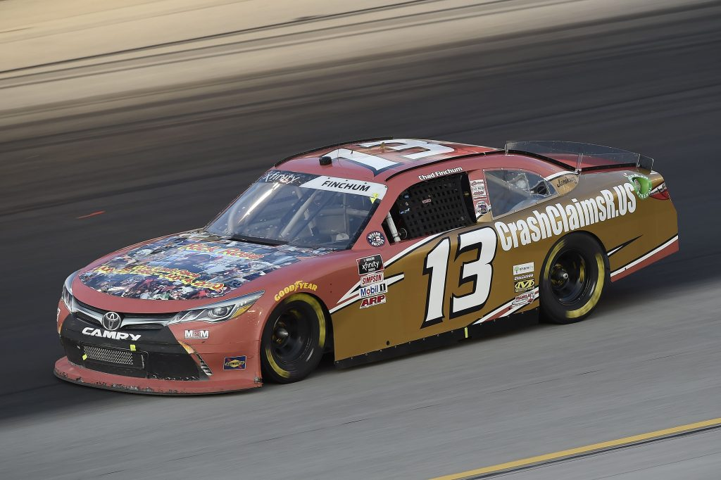 SPARTA, KENTUCKY - JULY 10: Chad Finchum, driver of the #13 CrashClainsR.US Toyota, drives during the NASCAR Xfinity Series Alsco 300 at Kentucky Speedway on July 10, 2020 in Sparta, Kentucky. (Photo by Jared C. Tilton/Getty Images) | Getty Images
