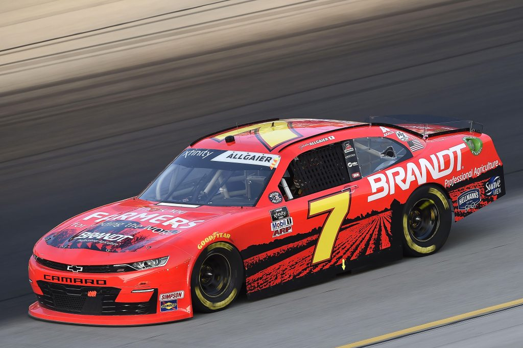 SPARTA, KENTUCKY - JULY 10: Justin Allgaier, driver of the #7 Thank You Team BRANDT Chevrolet, drives during the NASCAR Xfinity Series Alsco 300 at Kentucky Speedway on July 10, 2020 in Sparta, Kentucky. (Photo by Jared C. Tilton/Getty Images) | Getty Images