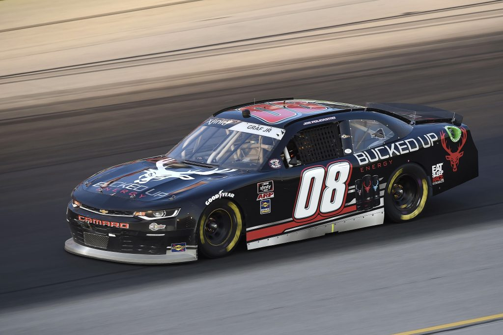 SPARTA, KENTUCKY - JULY 10: Joe Graf Jr, driver of the #08 Bucked Up Energy Chevrolet, drives during the NASCAR Xfinity Series Alsco 300 at Kentucky Speedway on July 10, 2020 in Sparta, Kentucky. (Photo by Jared C. Tilton/Getty Images) | Getty Images