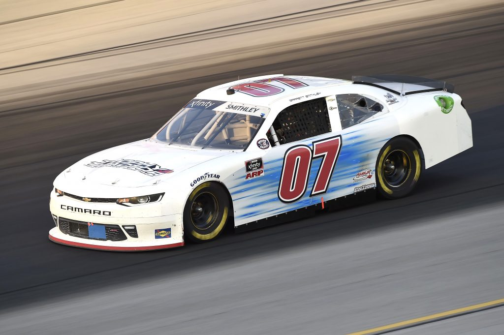 SPARTA, KENTUCKY - JULY 10: Garrett Smithley, driver of the #07 Chevrolet, drives during the NASCAR Xfinity Series Alsco 300 at Kentucky Speedway on July 10, 2020 in Sparta, Kentucky. (Photo by Jared C. Tilton/Getty Images) | Getty Images
