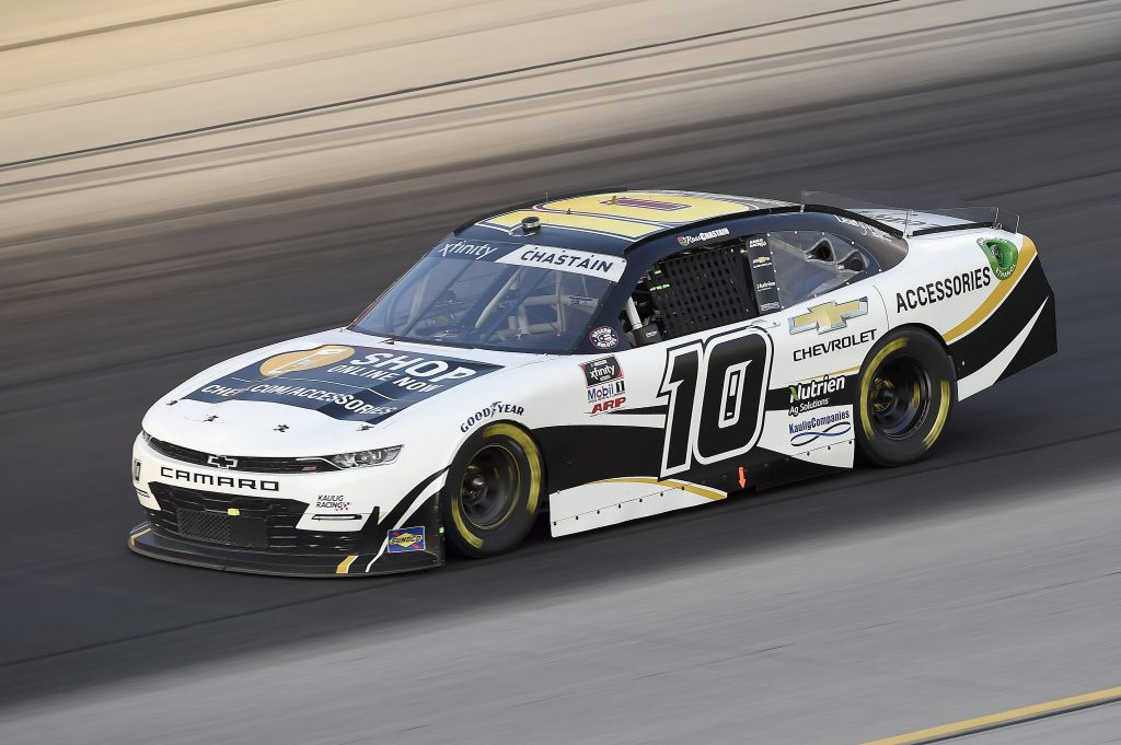 SPARTA, KENTUCKY - JULY 10: Ross Chastain, driver of the #10 Chevy Accessories Chevrolet, drives during the NASCAR Xfinity Series Alsco 300 at Kentucky Speedway on July 10, 2020 in Sparta, Kentucky. (Photo by Jared C. Tilton/Getty Images) | Getty Images