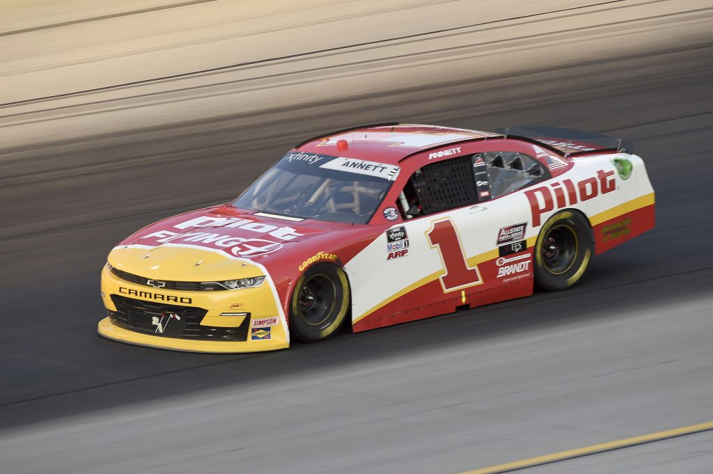 SPARTA, KENTUCKY - JULY 10: Michael Annett, driver of the #1 TMC Chevrolet, drives during the NASCAR Xfinity Series Alsco 300 at Kentucky Speedway on July 10, 2020 in Sparta, Kentucky. (Photo by Jared C. Tilton/Getty Images) | Getty Images