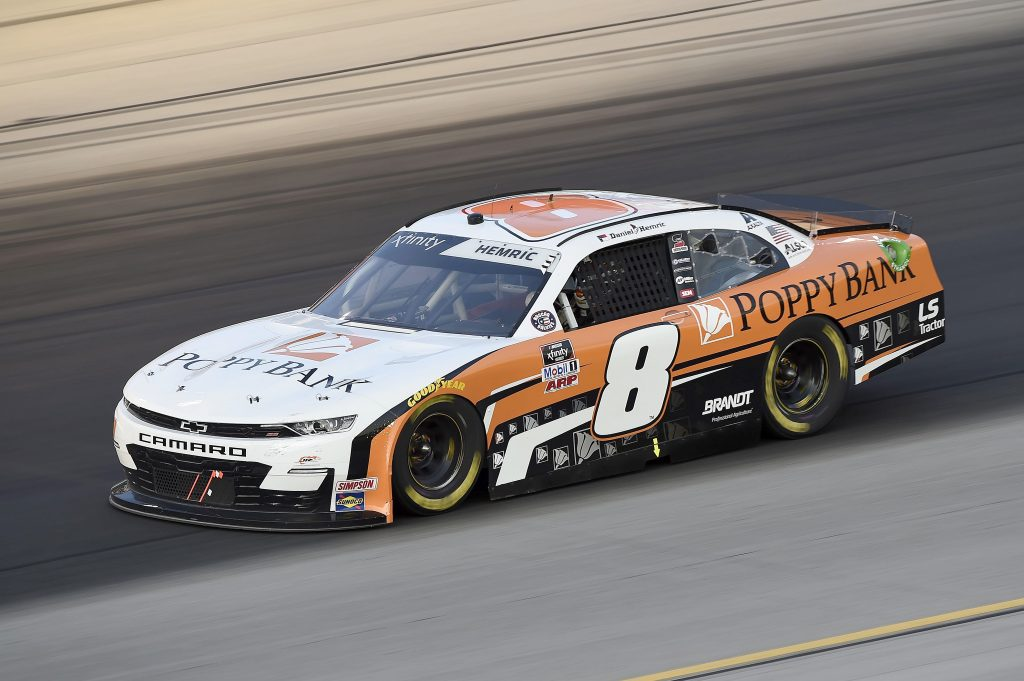 SPARTA, KENTUCKY - JULY 10: Daniel Hemric, driver of the #8 Rocky Boots Chevrolet, drives during the NASCAR Xfinity Series Alsco 300 at Kentucky Speedway on July 10, 2020 in Sparta, Kentucky. (Photo by Jared C. Tilton/Getty Images) | Getty Images