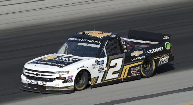 SPARTA, KENTUCKY - JULY 11: Sheldon Creed, driver of the #2 Chevy Accessories Chevrolet, drives during the NASCAR Gander RV & Outdoors Truck Series Buckle Up In Your Truck 225 at Kentucky Speedway on July 11, 2020 in Sparta, Kentucky. (Photo by Jared C. Tilton/Getty Images) | Getty Images