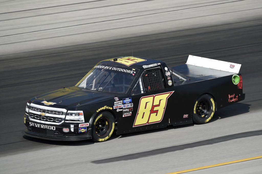 SPARTA, KENTUCKY - JULY 11: Ray Ciccarelli, driver of the #83 CMI Motorsports Chevrolet, drives during the NASCAR Gander RV & Outdoors Truck Series Buckle Up In Your Truck 225 at Kentucky Speedway on July 11, 2020 in Sparta, Kentucky. (Photo by Jared C. Tilton/Getty Images) | Getty Images