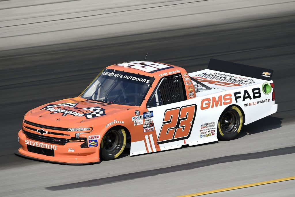 SPARTA, KENTUCKY - JULY 11: Brett Moffitt, driver of the #23 Chevrolet, drives during the NASCAR Gander RV & Outdoors Truck Series Buckle Up In Your Truck 225 at Kentucky Speedway on July 11, 2020 in Sparta, Kentucky. (Photo by Jared C. Tilton/Getty Images) | Getty Images