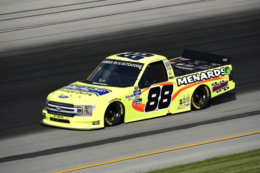 SPARTA, KENTUCKY - JULY 11: Matt Crafton, driver of the #88 Ideal Door/Menards Ford, drives during the NASCAR Gander RV & Outdoors Truck Series Buckle Up In Your Truck 225 at Kentucky Speedway on July 11, 2020 in Sparta, Kentucky. (Photo by Jared C. Tilton/Getty Images) | Getty Images